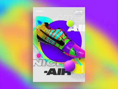 Nice Air Sneakers Poster