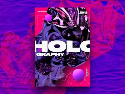 Holography abstract Poster