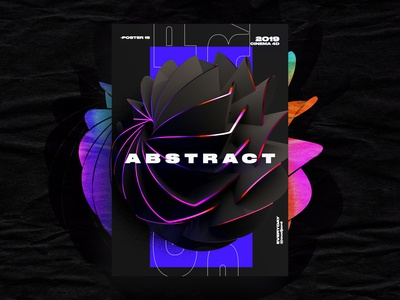 Abstract Holo Poster