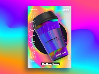 Coffee Time  Holography poster