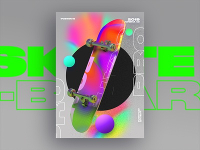 Skate board holo poster