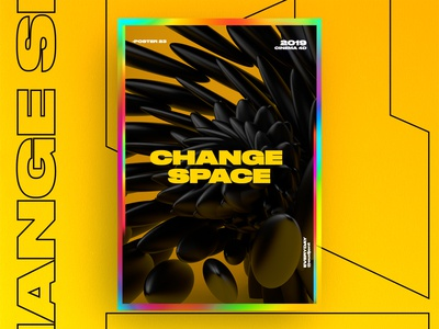 Change space poster