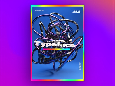 Typeface abstract Poster