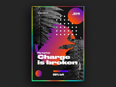 my laptop charge is broken poster