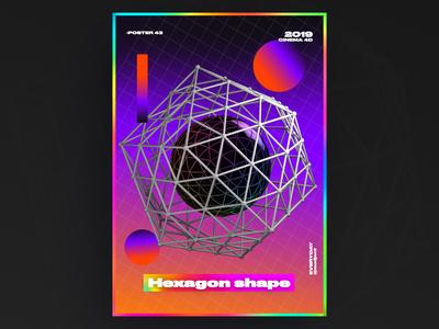 hexagon shape poster