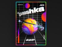 AWP Gun Pushka poster