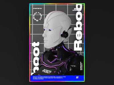 Reboot robot poster