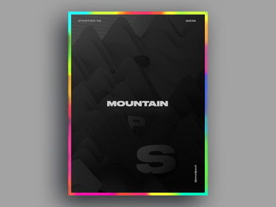 Mountain space Poster