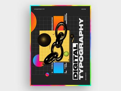 digital typographyposter