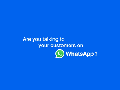 Talking to your customer on WhatsApp