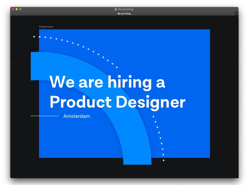 Wanted: Product Designer! design job agency product designer netherlands designer vacancy career hiring cloud communications tech company amsterdam job messagebird
