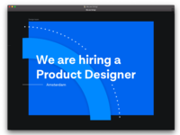 Wanted: Product Designer!