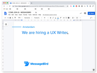 Wanted: UX Writer