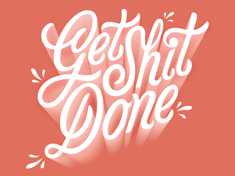 Let's get things done poster vector typography design messagebird illustration lettering getshitdone