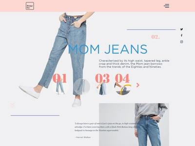 concept UI web page layout