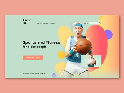 concept landing page layout design