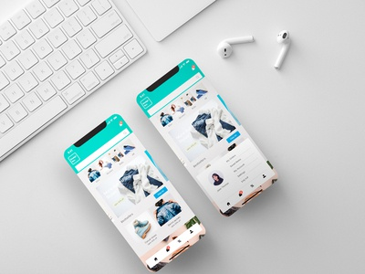Concept ui design layout-online shopping