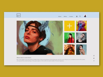 Concept web page layout-Gallery upload