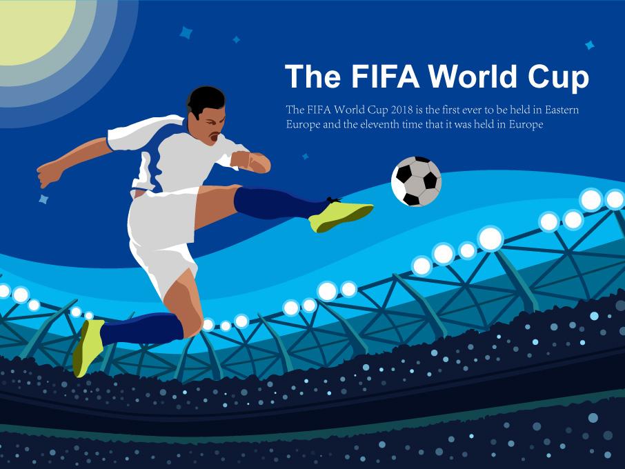 World Cup design illustration