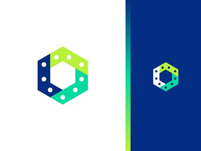 Led logo symbol identity design concept mark leds led