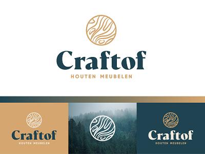 Craftof woodworking furniture maker craft wood craft craftwork wood pattern wood illustration vector symbol identity branding design mark logo