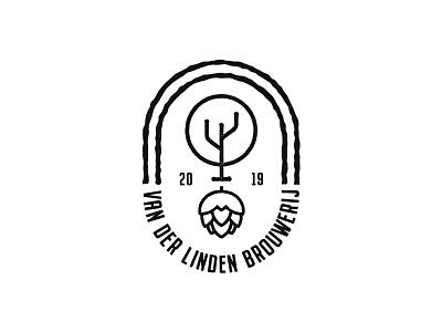 Brewery logo print beer hop tree linden brouwerij brewery vector identity design branding logo