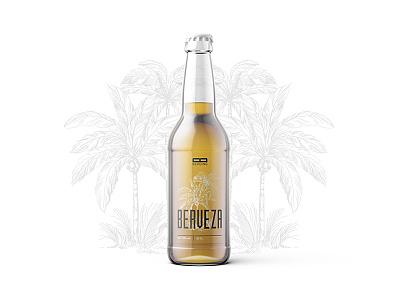 Berveza non label look summer beer summer brewery product design design beer branding bottle label beer label labeldesign label beer