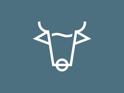 BULL vector illustration beer branding beer glass brewery beer symbol identity design concept mark logo
