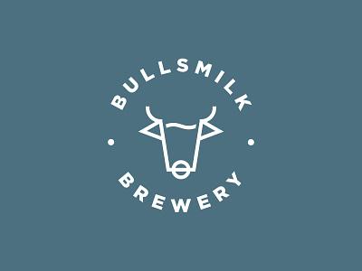 BULLSMILK symbol mark beer branding vector brewery beer identity design branding logo