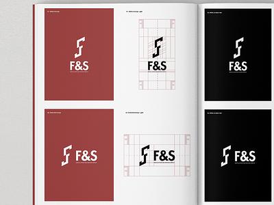 FS Monogram. grid minimal ambigram sf fs monogram logo speed