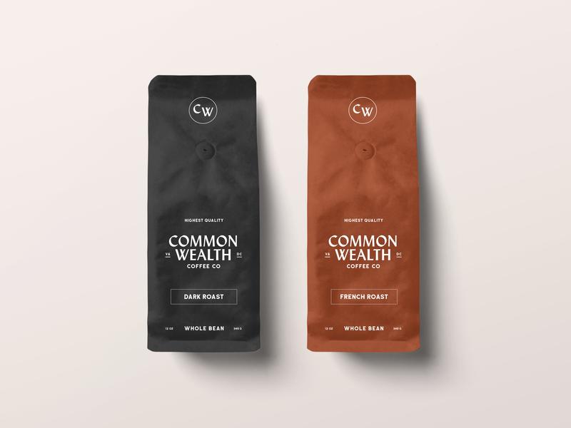 Coffee Bag Mockups product design dark roast french roast common wealth branding coffee mockup coffee bags coffee branding