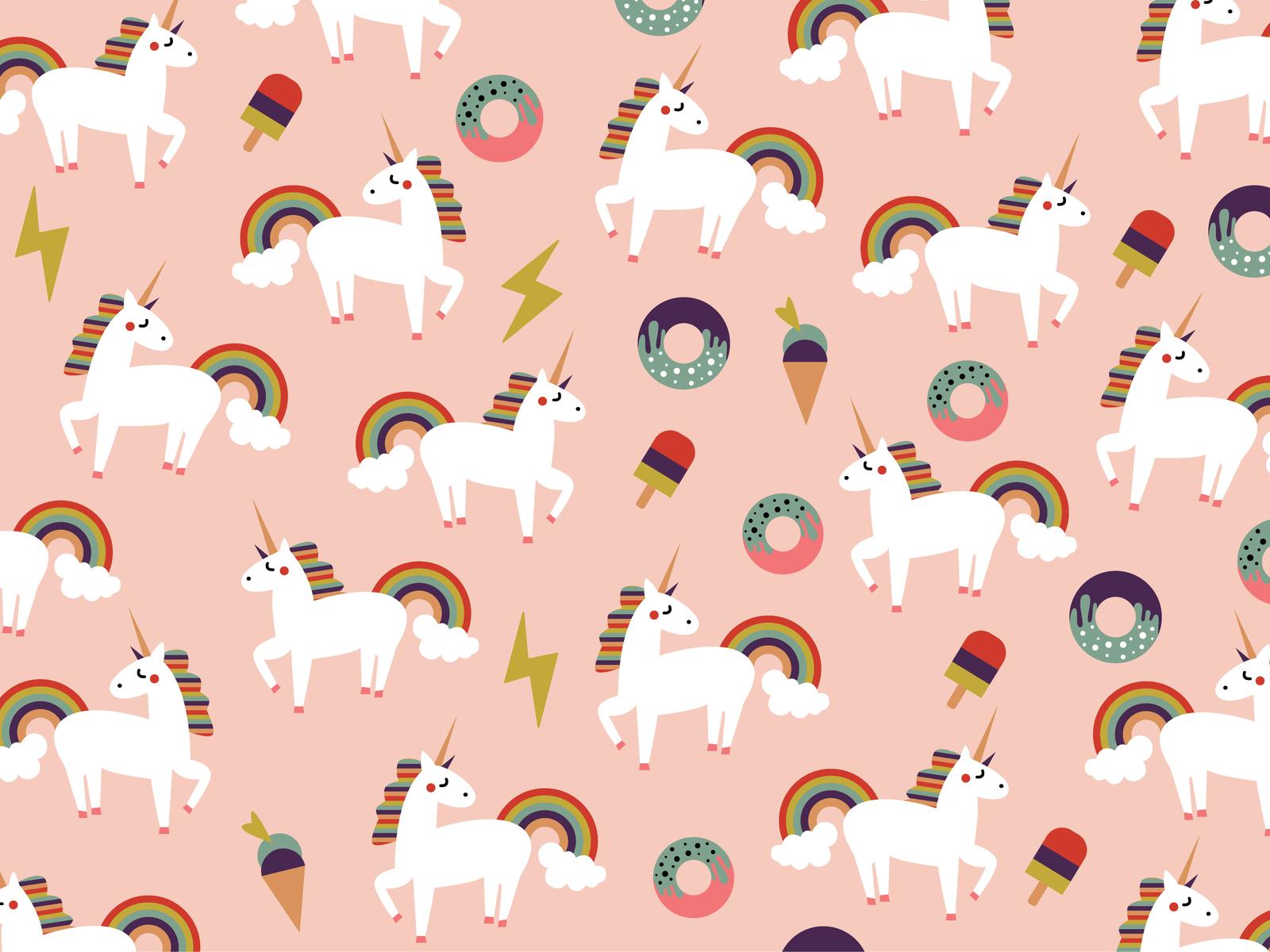 Unicorn Pattern Wallpaper By Graphicstore Dribbble