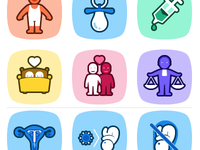 Icons for a website about sexuality in all it's aspects