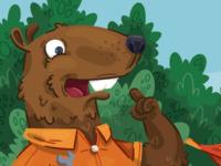 This beaver has an idea!
