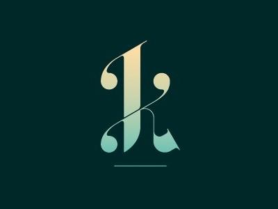 K logo k monogram