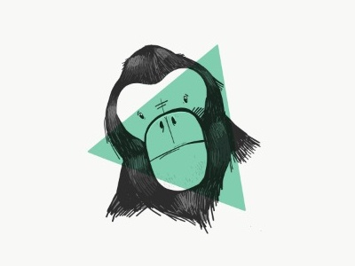 Monkey! :) sketch ipad gorilla