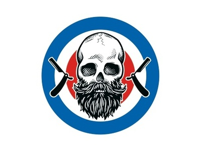 Logo mark for a barbershop vector barber skull beard barbershop logo
