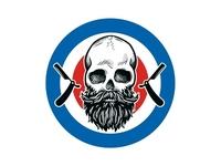 Logo mark for a barbershop