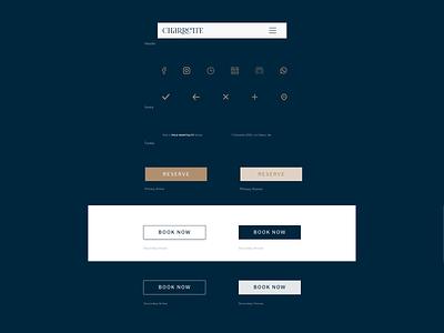 Charrette - UI Elements ui elements styleguide branding sneakpeek minimal website web ux ui design