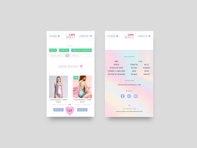 Mimili - E-commerce footer responsive mobile mobile design mobile ui ecommerce website web ui ux design