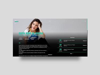 TFH - Website profile page website web ux ui design