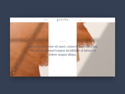 Prieta - About ecommerce sneakpeek minimal website design web ux ui