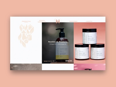 Nahnya - Product Grid website web ux ui design ecommerce