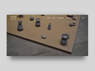 Salon ACME - Website minimal development website web ux ui design