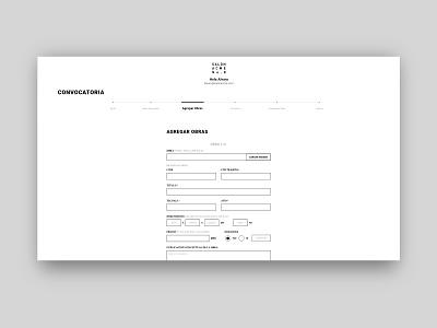 Salon ACME - Open Call development minimal website web ux ui design