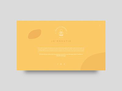 Abuelita Borrego - About Screen sneakpeek branding minimal website web ui design