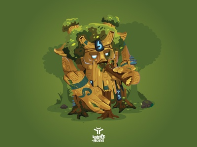 Treant Protector design vector treant protector rooftrellen illustration graphic design game dota 2 dota character design