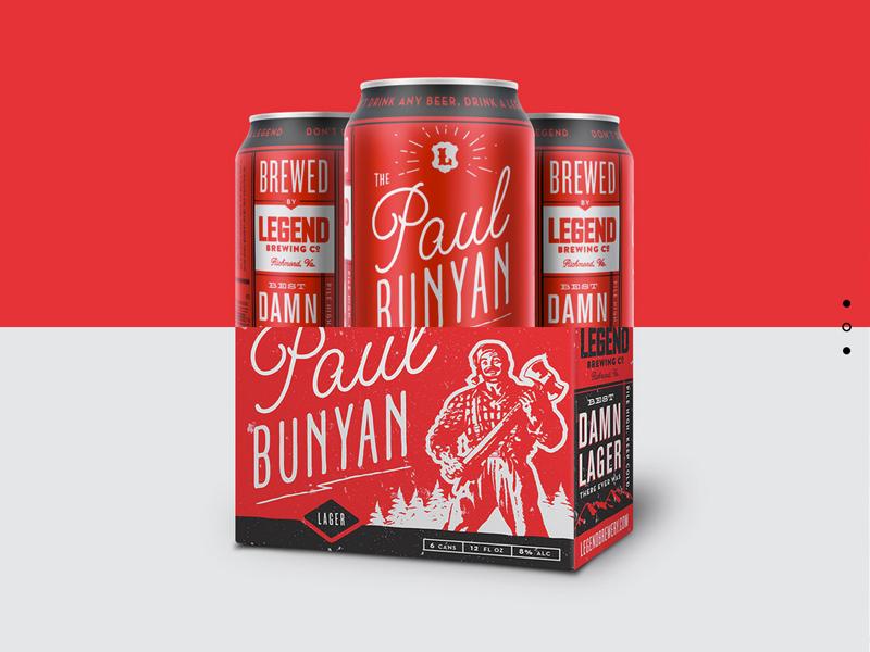 Best Damn Lager portfolio web website paul bunyan type packaging beer