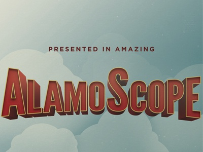 AlamoScope 70mm film type sky clouds alamo drafthouse