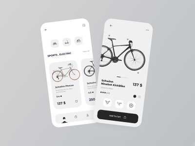 Bikes And Scooter App bikes ui design shop store ux ui